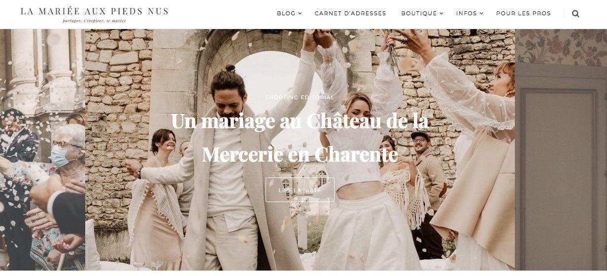 mariage publié sur la mariée aux pieds nus
