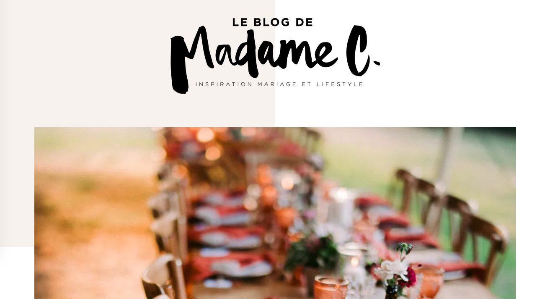 Publication mariage sur le blog de madame C